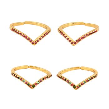 4ef43862ef1e Étnico tono oro anillo del dedo del pie con hermoso trabajo de piedra  joyería tradicional para