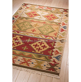 Hand Made Dhurrie Vintage Indian Wool Rug Kilim Carpet Handmade Durry Woven Carpets And Rugs Product On Alibaba