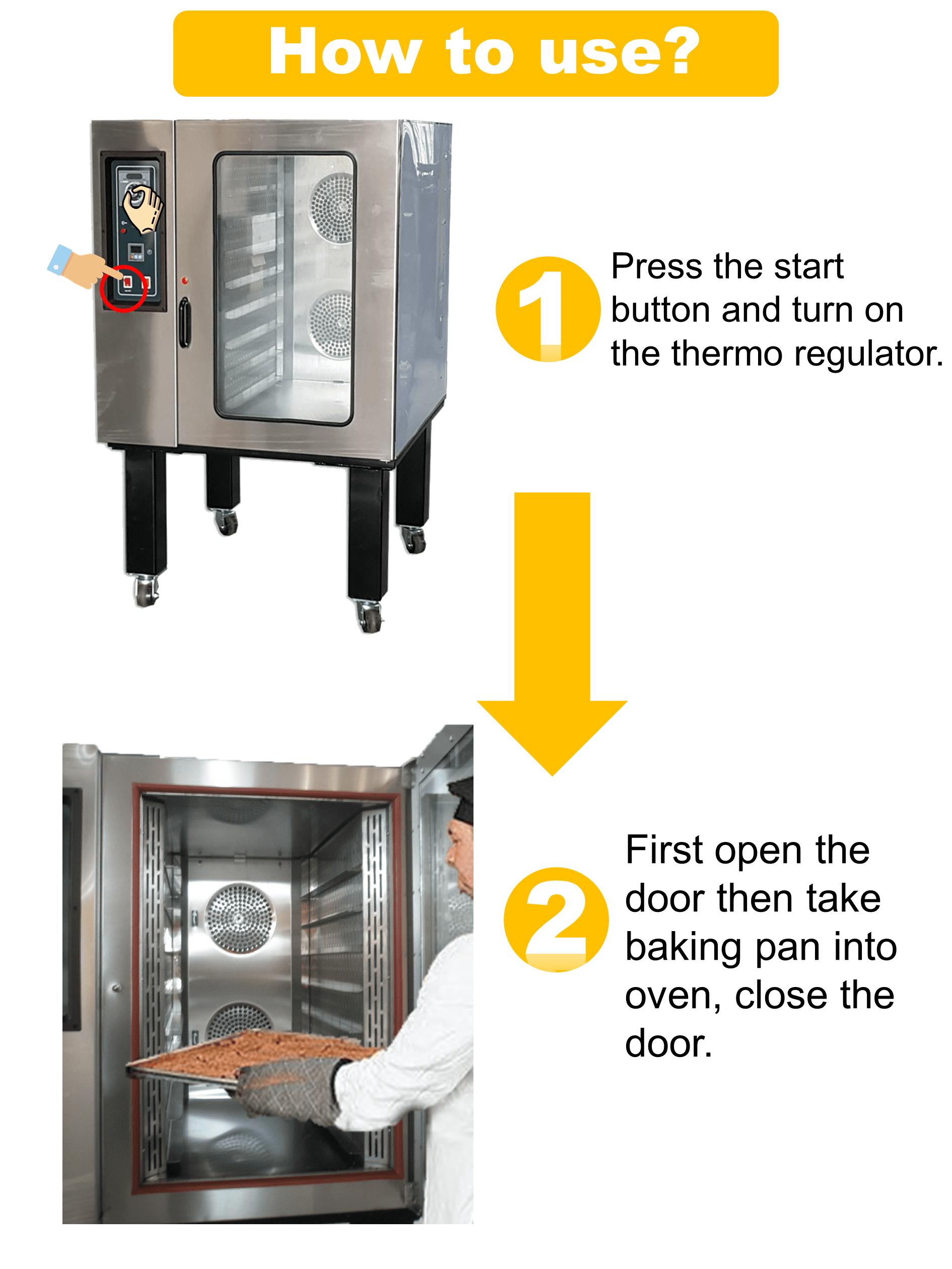 Backen Ausrüstung Pizza Bäckerei Elektrische Konvektion Ofen