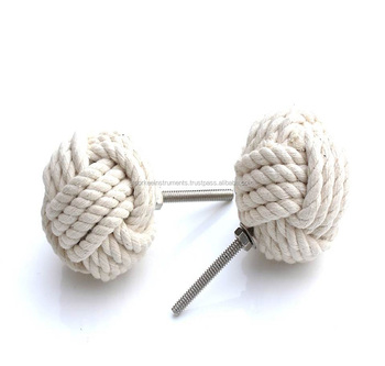 50MM Dia Cotton Rope Monkey Fist Cabinet Knobs/Nautical Decor/Bach House