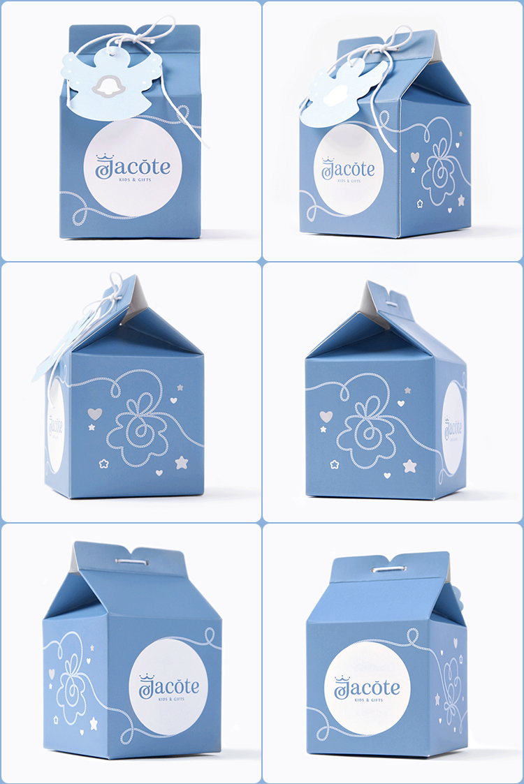 Unique design custom luxury paper packing gable box for gift