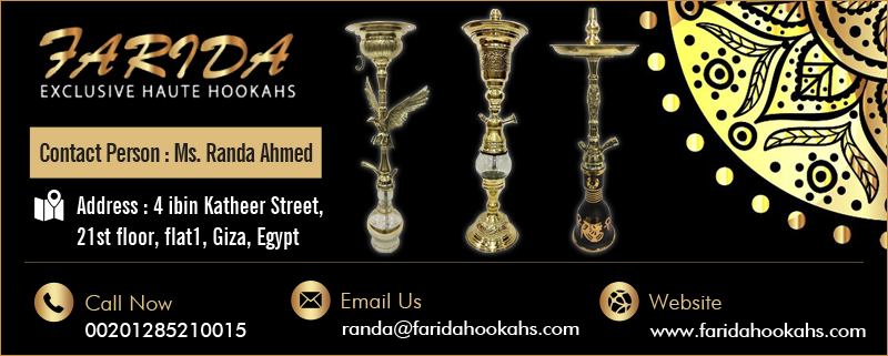 Farida Hookah Disco Leaded Light Stainless
