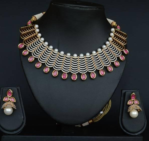 chunky chopra necklace ean sannam designer layered designers gold shop accessories jewellery product sc indian multi necklaces