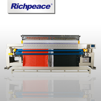 For Hometextile Richpeace Computerized Single-color Single Roll Quilting and Embroidery Machine