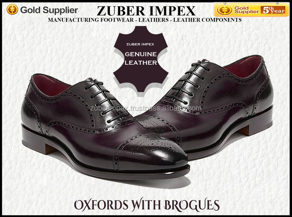 High quality Shoes made with the highest quality of Leather and Craftsmanship - Oxfords with Brogues - Shoe factory in India