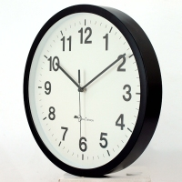 12 inch printed face battery operate plastic round quartz custom wall clock