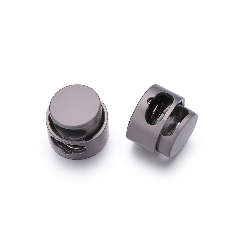 High Quality Round Metal Adjustable Spring Cord Lock Stopper For Clothes