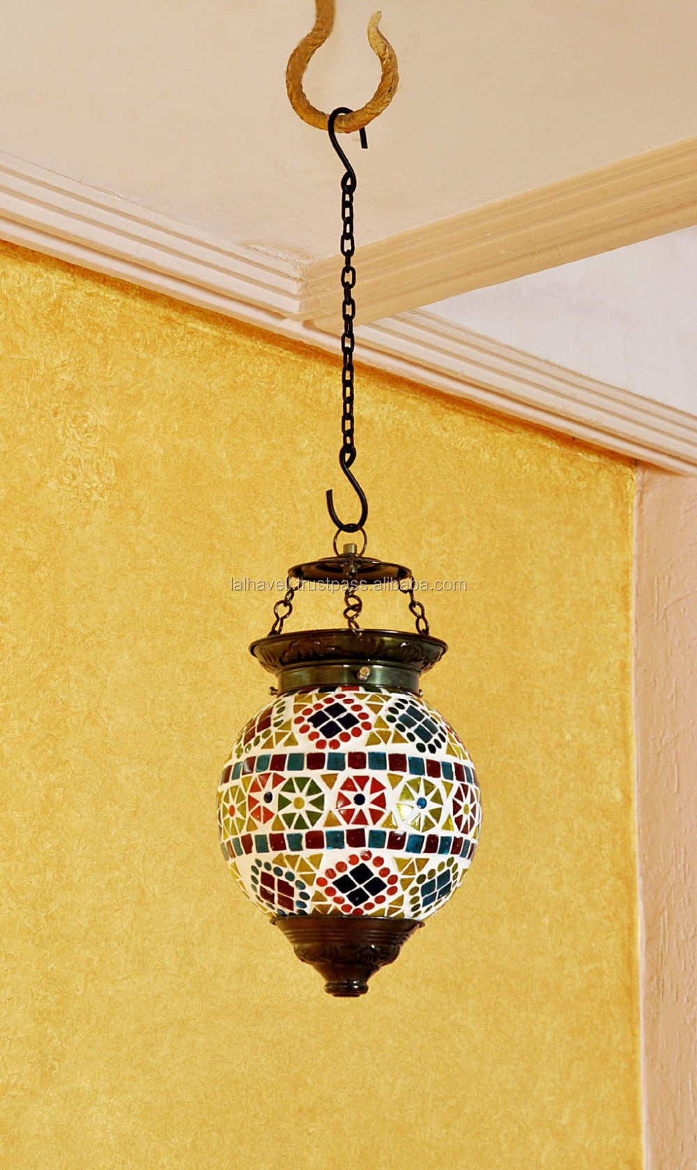 Gorgeous indian decor multi color glass ceiling lamp wholesaler of decorative glass pendant lamps view ethnic decorative glass ceiling lamp