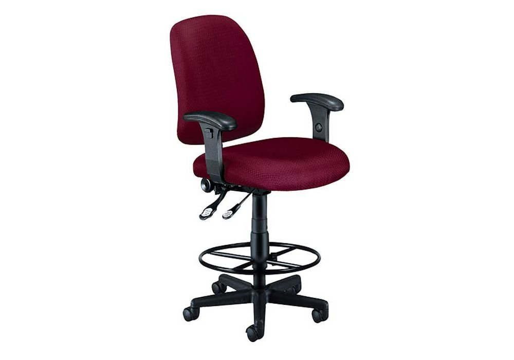 """Ergonomic Stool with Arms Wine Dimensions: 26.25""""W x 28.25""""D x 46-50.5""""H Seat Dimensions: 19.75""""Wx19.75""""Dx28.5-33""""H"""