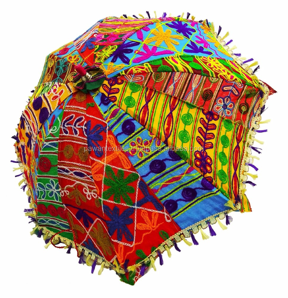 Handicrafts Items Handmade Embroider decorative umbrella arts & crafts Jaipuri