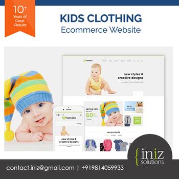 Kids Clothes,Toys,Shirts,Frocks New Ecommerce Website + App Design  Development - Best Development Company - Buy Kids Clothes Website,Toys