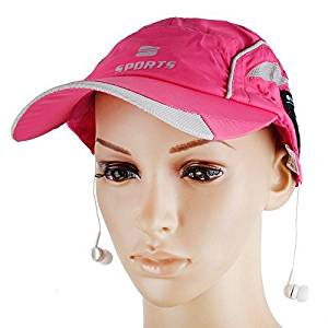 BearsFire New Arrival Wireless Bluetooth Baseball Cap Music Sun Hat Hands-free Phone Call Answer Ears-free With Headphones and Mic Bluetooth 4.0 + EDR Music Hat Bluetooth Headset (Pink)