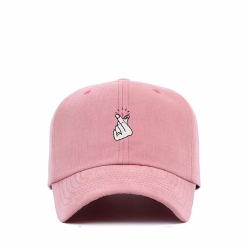 cf93b4b7b5ef9 FL086 Heart pink baseball cap custom baseball cap snapback hats high  quality Premi3r Korea brand