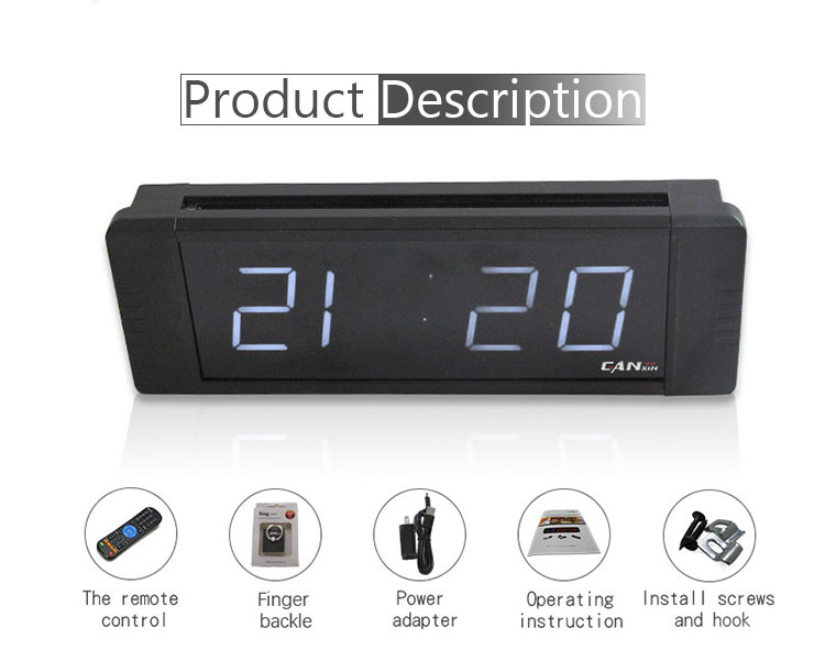 Ganxin Led Digital Alarm Clock Battery Ed Only Small For Bedrooms Wall