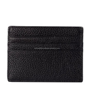 Wholesale Black PU Leather Card Holder Wallet for Men