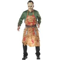 Halloween Costume Men Bloody Butcher Herror Cosplay Clothing with Mask