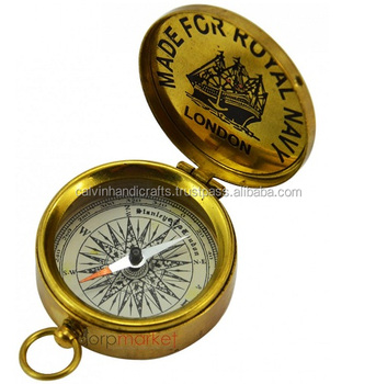 Stanley London 1885 Pocket Compass With Anchor Symbol Above And Lid