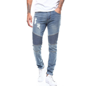 Men wholesale china blank denim used blue jeans branded jeans pant