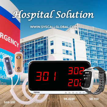 Syscall ziekenhuis solution_Wireless calling system_Wrist horloge pager