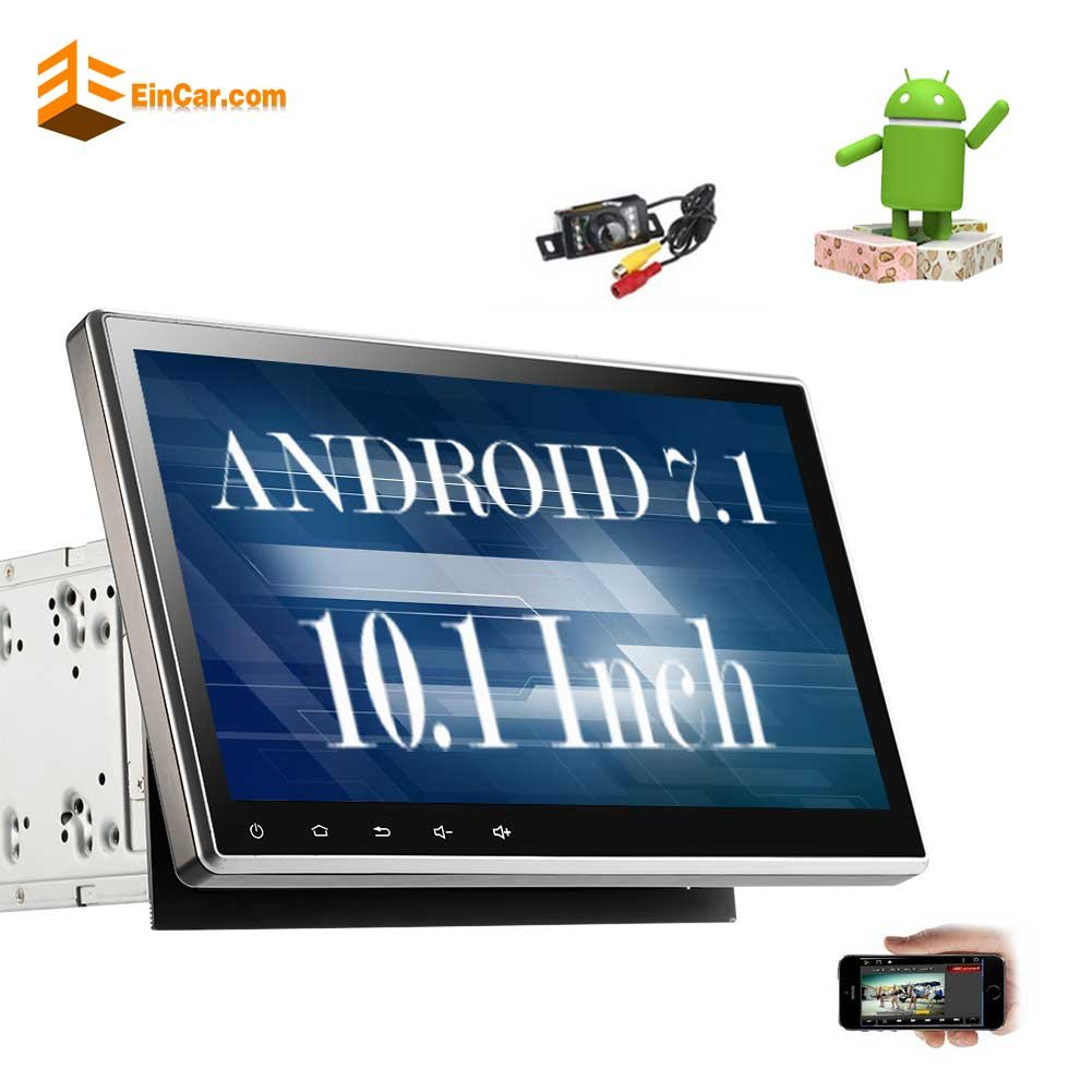 "New Arrival!! 10.1"" Upgraded Android 7.1 Quad Core Double Din Car Stereo Car DVD/CD Player In Dash GPS Navigation with Radio Receiver Support Bluetooth WIFI AM/FM Subwoofer+Free Reverse Camera!!"