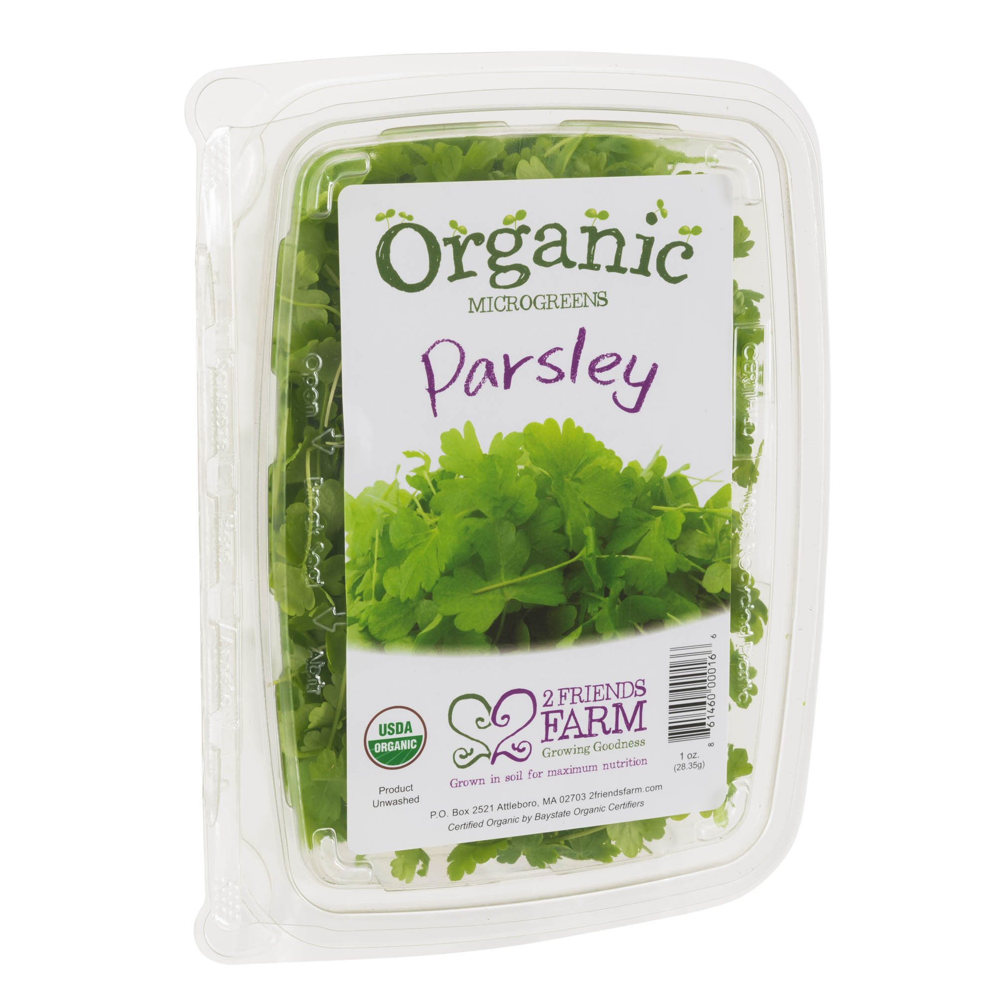 2 Friends Farm Local Northeast Organic Parsley Microgreens 1oz