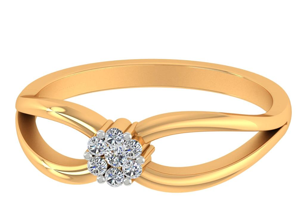 14k Yellow Gold Natural Round Cut Certified Diamond Floral Ring Anniversary Jewelry
