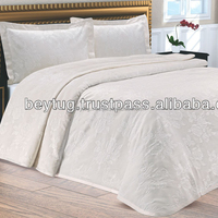 %100 COTTON LUXURY BED COVER SET / Elegant Bed cover set / Oxford style Pillow case