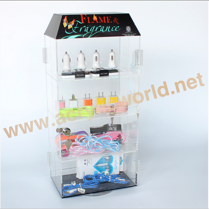 cell phone accessories display case, countertop acrylic 4 layers phone accessories display rack wholesale, phone accessory rack