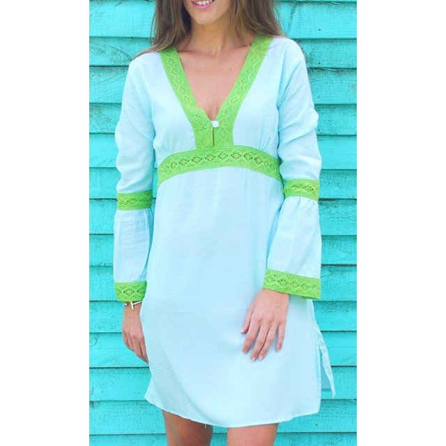 plus size women tunic sexy ladies full sleeves high v neck green lace long tunic ladies tops