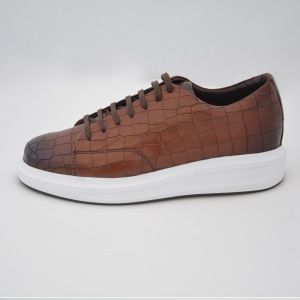 Popular Design Brown %100 Leather Sneakers 10402