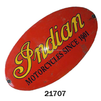 INDIAN MOTOR CYCLES SINCE 1901 CAST IRON WALL SIGN