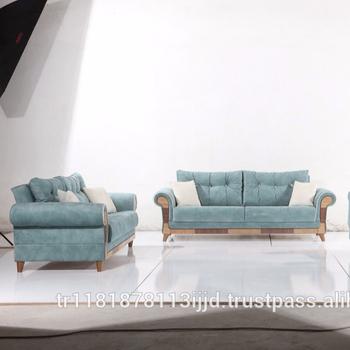 Doruk Sofa Set Turkish Made Optional Fabric Colours Italian