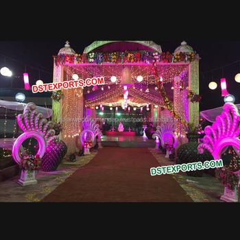 Fiber Decoration Indian Wedding Decorations Entrance Aisleway