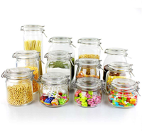 Clear glass food storage container set eco friendly reusable kitchen food storage containers with lids