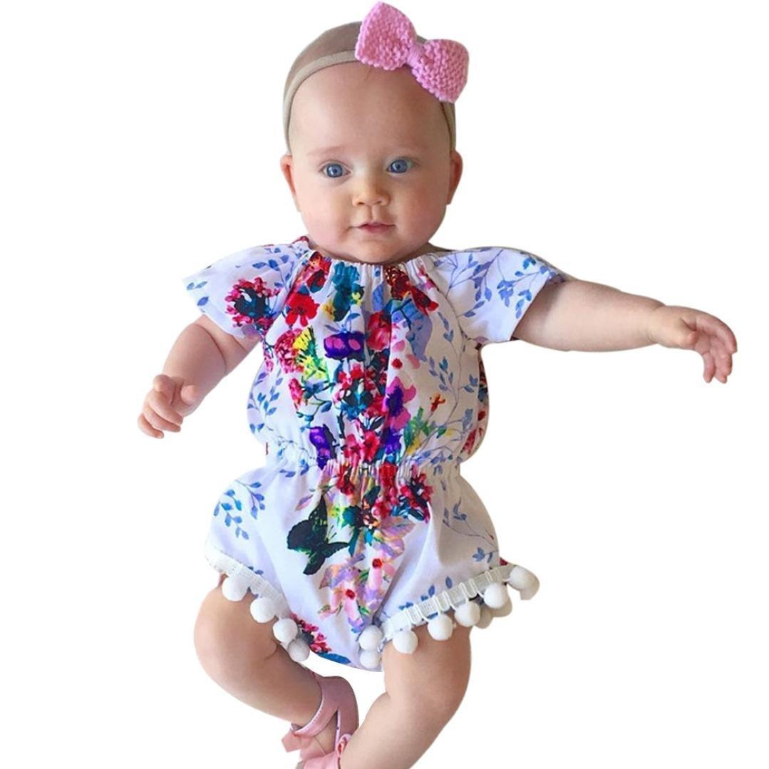 43a8d45d6c3 Get Quotations · Baby Girls Ruffles Butterfly Romper Jumpsuit(80)