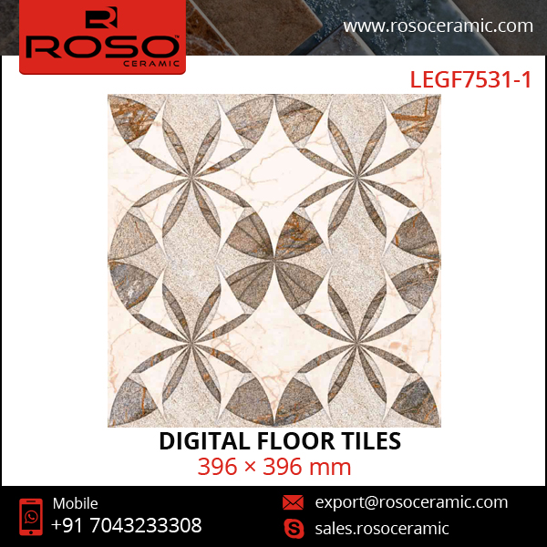 Waterjet Flower Design Decoration Tiles, Marble Tile Flooring