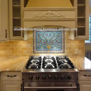 Lusso Arredamento Cucina Piastrelle Jaipur Blu Piastrelle Ceramiche ...