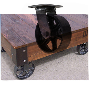 OEM design cast iron caster antique metal cart wheels