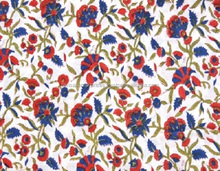 Indian Floral Fabric Hand Block Print Handmade Cotton Sanganeri Print fabric