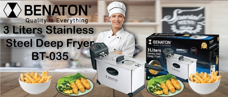 Big Capacity Temperature Control 3 Liters Stainless Steel Low Oil Electric Deep Fryer
