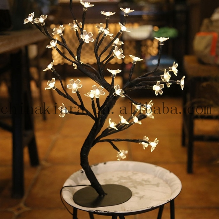 Factory supply battery operated multicolor 40LED cherry blossom tree
