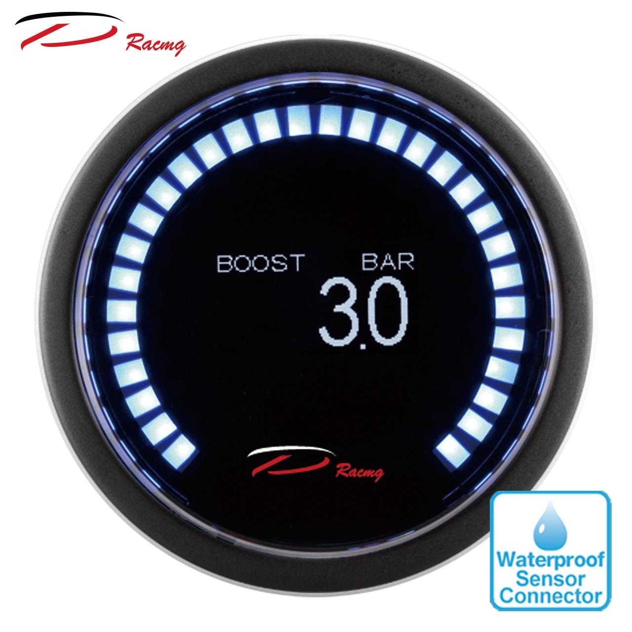 Depo Racing 52mm LED Digital Blue LED Turbo Boost Gauge PSI