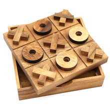 Tictactoe woden board games