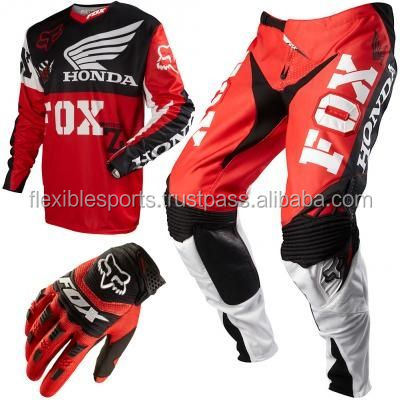 Professional Customize Motocross Pant and Jersey Sublimation and Gloves Mx