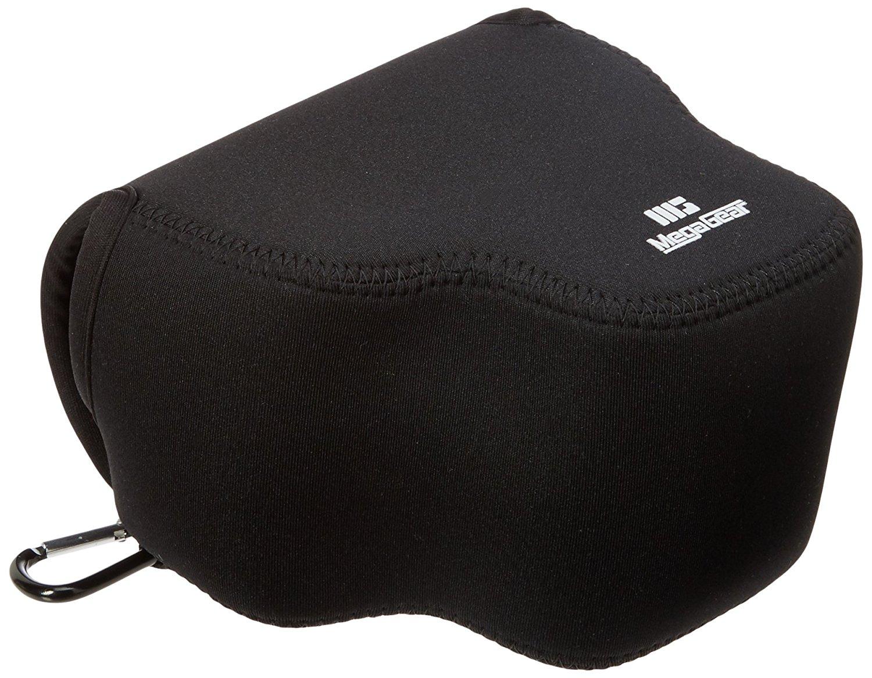 MegaGear ''Ultra Light'' Neoprene Camera Case Bag with Carabiner for Sony Cyber-shot DSC-RX10, Sony Cyber-shot DSC-RX10 II (Black)