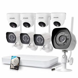 Zmodo 1080p 8CH NVR 8 720p IP Indoor/Outdoor WiFi Security Camera System 500GB