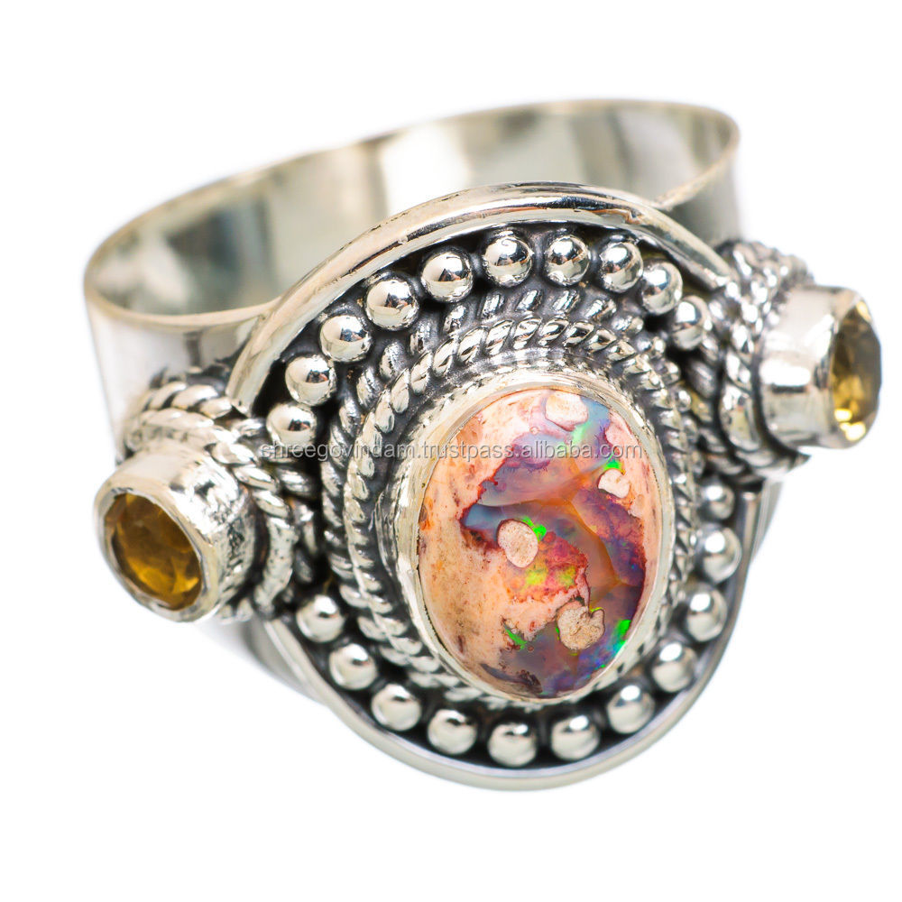 Mexican fire opal ring wholesale ring suppliers alibaba aloadofball Choice Image