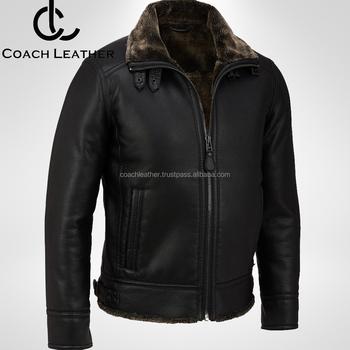Top Brand Coach Leather Men S Winter Season Fur Lining Black Leather