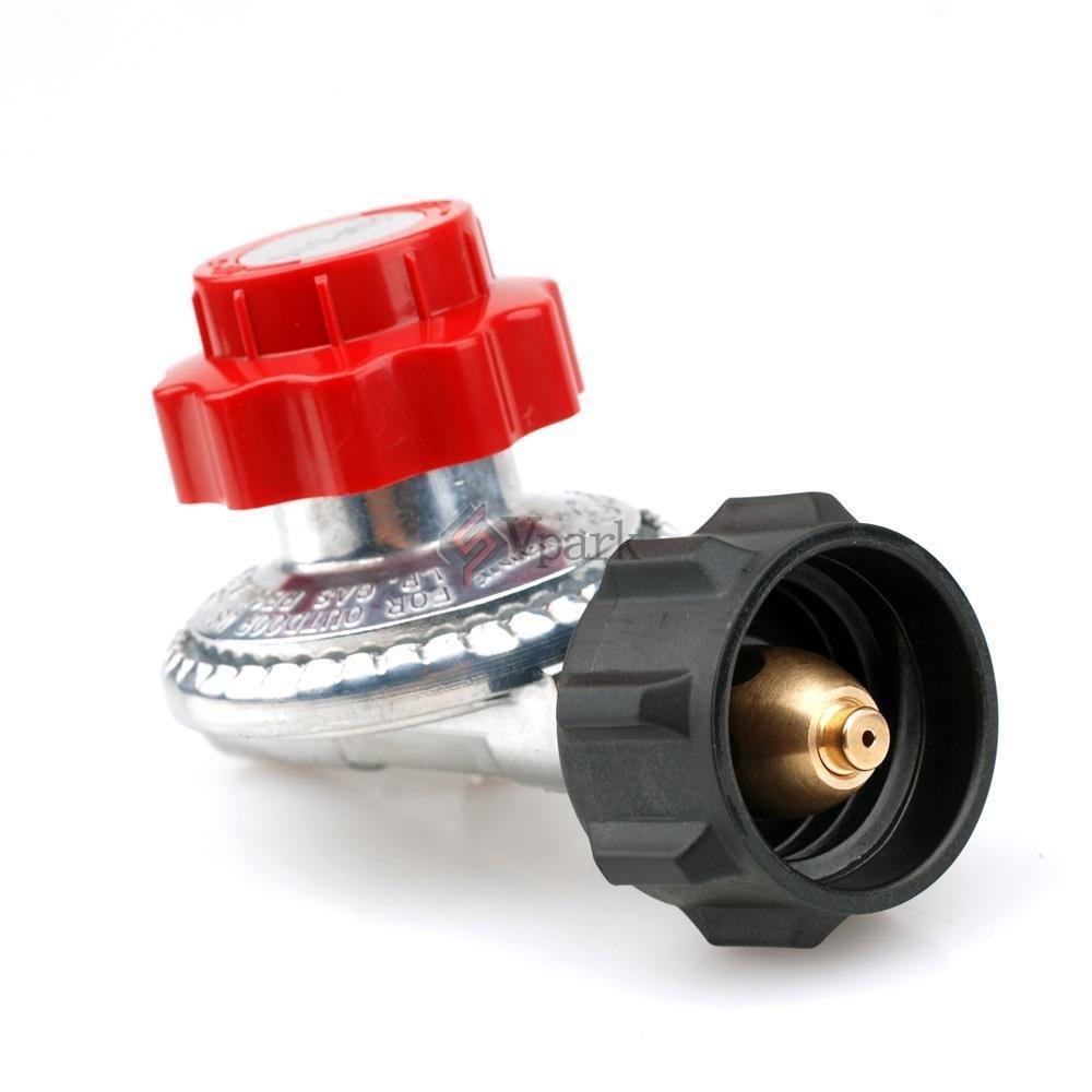 USA Premium Store Adjustable 0 to 20psi Propane Regulator + Connector LP LPG Gas Grill Fryer Parts