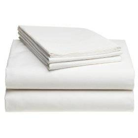 Twin Extra Long 100% Cotton jersey Sheet Set - Soft and Comfy - By Crescent Bedding White Twin XL